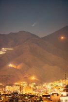 تصویر دیدنی از عبور ستاره دنبالهدار از آسمان تهران