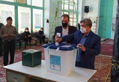 حضور مردم جنوب ایلام در پای صندوقهای رای با تدابیر بهداشتی