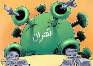 کاریکاتور؛ تهران در چنگال کرونا!